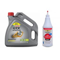 CASTROL GTX ULTRACLEAN 10W40 4 LT + MOTORKOTE HEAVY DUTY OIL STABILIZER 946 ML